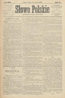 Słowo Polskie. 1900, nr393