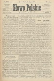 Słowo Polskie. 1900, nr399