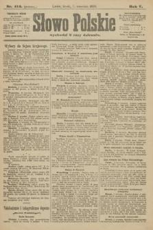 Słowo Polskie (wydanie poranne). 1900, nr414
