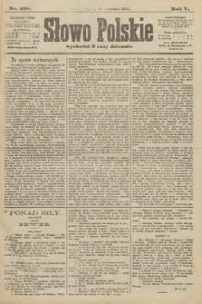 Słowo Polskie. 1900, nr428