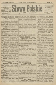 Słowo Polskie (wydanie poranne). 1900, nr429