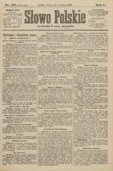 Słowo Polskie (wydanie poranne). 1900, nr431
