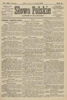 Słowo Polskie (wydanie poranne). 1900, nr441
