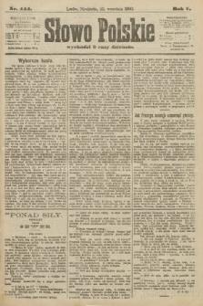 Słowo Polskie. 1900, nr444
