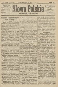 Słowo Polskie (wydanie poranne). 1900, nr451