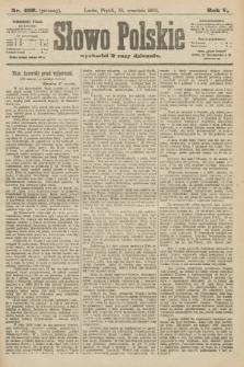 Słowo Polskie (wydanie poranne). 1900, nr453