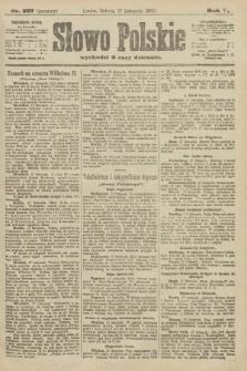 Słowo Polskie (wydanie poranne). 1900, nr537
