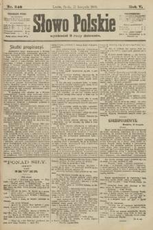 Słowo Polskie. 1900, nr542