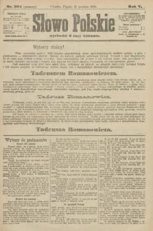 Słowo Polskie (wydanie poranne). 1900, nr594