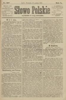 Słowo Polskie. 1900, nr597