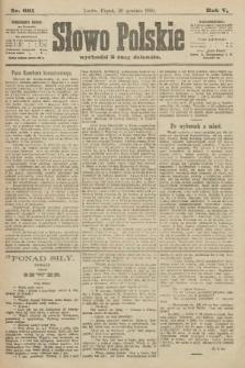 Słowo Polskie. 1900, nr601