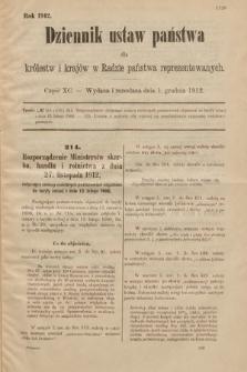 Dziennik Ustaw Państwa dla Królestw i Krajów w Radzie Państwa Reprezentowanych. 1912, cz.90