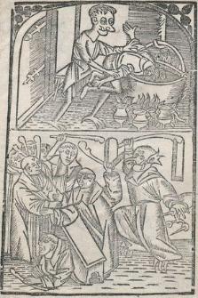[Bruder Rausch] : [Inc.] Eyn kloster vor einem vor einem walde lach Dar vele wu[n]ders ynne schach Dar weren moniken in ein deel Se were[n] iunck vn[d] dar tho gheil [...]