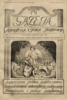 Gazeta Administracji i Policji Państwowej : miesięcznik wydawany przez Ministerstwo Spraw Wewnętrznych. 1928, nr8