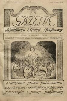 Gazeta Administracji i Policji Państwowej : miesięcznik wydawany przez Ministerstwo Spraw Wewnętrznych. 1928, nr9