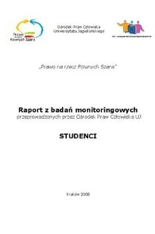 Raport zbadań monitoringowych przeprowadzonych przez Ośrodek Praw Człowieka UJ : studenci