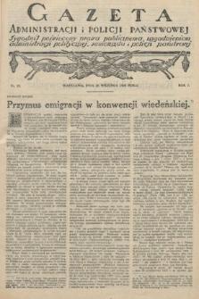 Gazeta Administracji i Policji Państwowej : tygodnik poświęcony prawu publicznemu, zagadnieniom administracji politycznej, samorządu i policji państwowej. 1925, nr39
