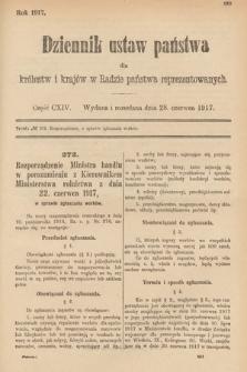 Dziennik Ustaw Państwa dla Królestw i Krajów w Radzie Państwa Reprezentowanych. 1917, cz.114