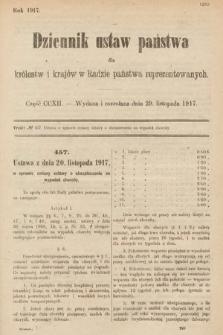 Dziennik Ustaw Państwa dla Królestw i Krajów w Radzie Państwa Reprezentowanych. 1917, cz.212