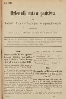 Dziennik Ustaw Państwa dla Królestw i Krajów w Radzie Państwa Reprezentowanych. 1917, cz.215