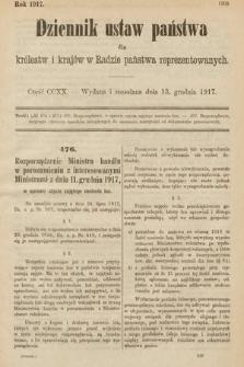 Dziennik Ustaw Państwa dla Królestw i Krajów w Radzie Państwa Reprezentowanych. 1917, cz.220