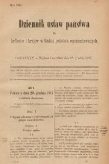 Dziennik Ustaw Państwa dla Królestw i Krajów w Radzie Państwa Reprezentowanych. 1917, cz.230