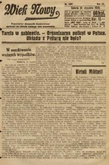 Wiek Nowy : popularny dziennik ilustrowany. 1920, nr5607