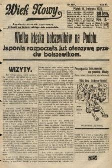 Wiek Nowy : popularny dziennik ilustrowany. 1920, nr5669