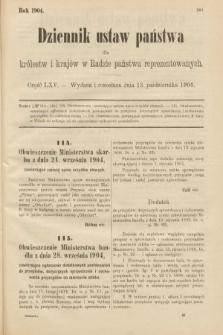 Dziennik Ustaw Państwa dla Królestw i Krajów w Radzie Państwa Reprezentowanych. 1904, nr65
