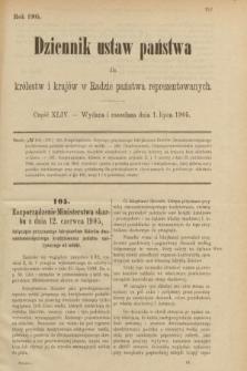 Dziennik Ustaw Państwa dla Królestw i Krajów w Radzie Państwa Reprezentowanych. 1905, nr44