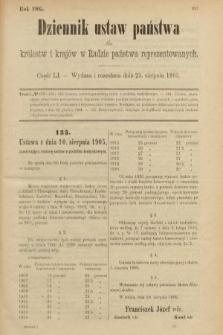 Dziennik Ustaw Państwa dla Królestw i Krajów w Radzie Państwa Reprezentowanych. 1905, nr51