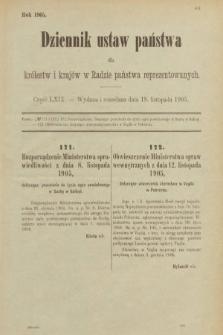Dziennik Ustaw Państwa dla Królestw i Krajów w Radzie Państwa Reprezentowanych. 1905, nr69