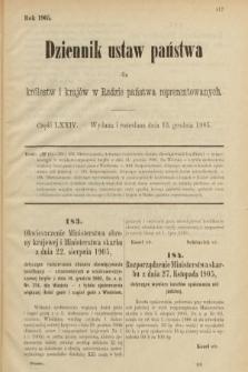 Dziennik Ustaw Państwa dla Królestw i Krajów w Radzie Państwa Reprezentowanych. 1905, nr74