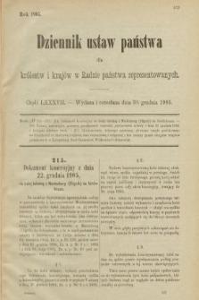 Dziennik Ustaw Państwa dla Królestw i Krajów w Radzie Państwa Reprezentowanych. 1905, nr87