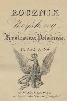 Rocznik Woyskowy Królestwa Polskiego na rok 1824