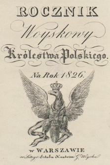 Rocznik Woyskowy Królestwa Polskiego na rok 1826