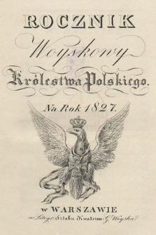 Rocznik Woyskowy Królestwa Polskiego na rok 1827