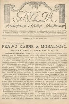 Gazeta Administracji i Policji Państwowej. 1927, nr7
