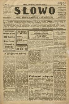Słowo. 1922, nr3
