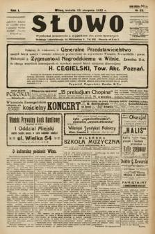 Słowo. 1922, nr22
