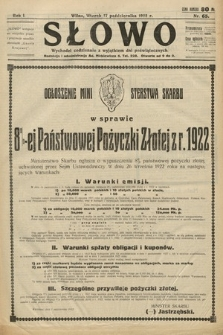 Słowo. 1922, nr65