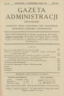 Gazeta Administracji : dwutygodnik poświęcony prawu publicznemu oraz zagadnieniom administracji rządowej i samorządowej. 1938, nr20