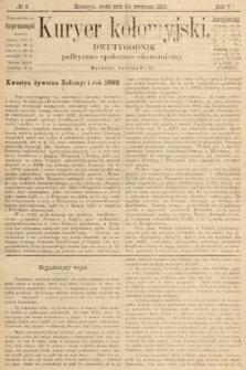 Kuryer Kołomyjski : dwutygodnik polityczno-społeczno-ekonomiczny. 1889, nr 8