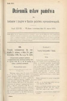 Dziennik Ustaw Państwa dla Królestw i Krajów w Radzie Państwa Reprezentowanych. 1914, nr28
