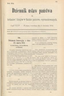 Dziennik Ustaw Państwa dla Królestw i Krajów w Radzie Państwa Reprezentowanych. 1914, nr35