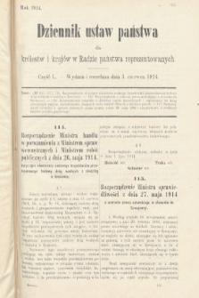 Dziennik Ustaw Państwa dla Królestw i Krajów w Radzie Państwa Reprezentowanych. 1914, nr50