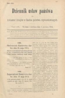 Dziennik Ustaw Państwa dla Królestw i Krajów w Radzie Państwa Reprezentowanych. 1914, nr53