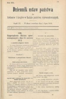 Dziennik Ustaw Państwa dla Królestw i Krajów w Radzie Państwa Reprezentowanych. 1914, nr60
