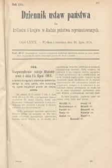 Dziennik Ustaw Państwa dla Królestw i Krajów w Radzie Państwa Reprezentowanych. 1914, nr79