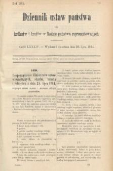 Dziennik Ustaw Państwa dla Królestw i Krajów w Radzie Państwa Reprezentowanych. 1914, nr84